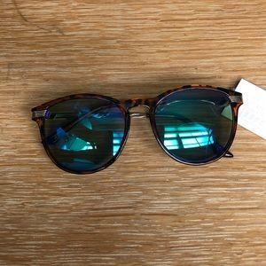 H&M Blue Lens Tortoise Shell Sunglasses